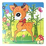 Clearance! Yaohxu Wooden Jigsaw Puzzles Set for Kids Age 2-5 Year Old Animals Preschool Puzzles for Toddler Children Learning Educational Puzzles Toys for Boys and Girls