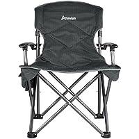 anmiya Oversize Quad acolchada plegable silla de camping con reposabrazos de lujo y portátil bolsa de transporte