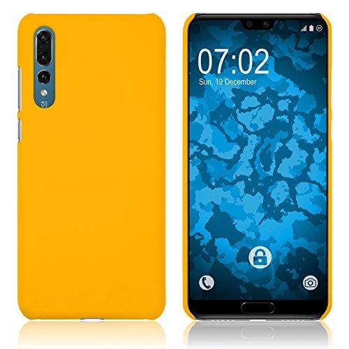 PhoneNatic Case kompatibel mit Huawei P20 Pro - Hülle gelb gummiert Hard-case Cover Gelb Hard Case
