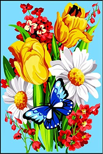 SEG de Paris Needlepoint-Set, Tapisserie/Spring Flowers von Atlascraft -