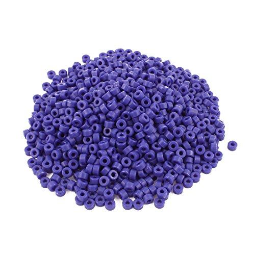 uxcell a16042500ux11391000Stück Kunststoff Spalte isoliert Spacer Waschmaschine Unentschieden Säulen Deep Blue, 0,7cm Breite, 0,7cm Länge