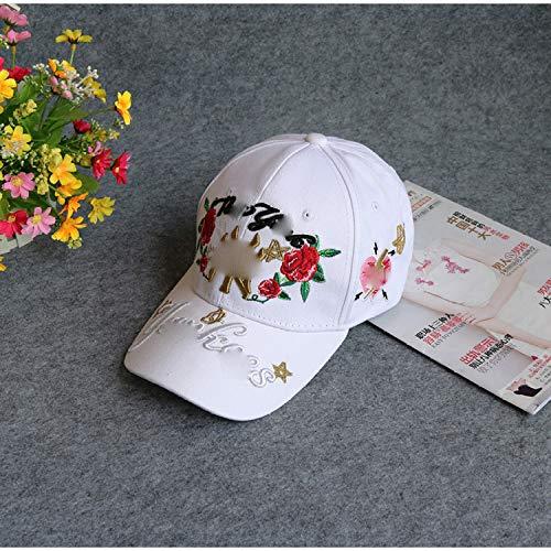 Kostüm Broschen Irland - zhuzhuwen Koreanische Version des Buchstabens Rose Biene Baseball Cap lässig Ente Zunge Hut 7 einstellbar