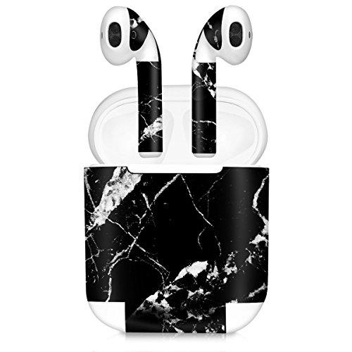 kwmobile 7in1 Set Aufkleber kompatibel mit Apple AirPods - 7X Sticker Aufkleber für In Ear Kopfhörer
