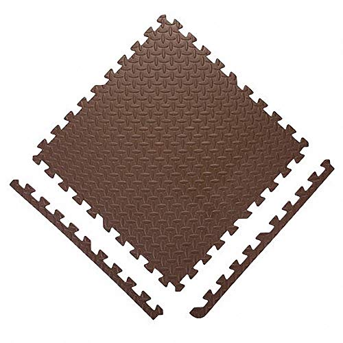 Garten-Kriechmatte, Spleißmatte, abnehmbare Sportmatte aus PE, hypoallergen färbender Natur-Aktivteppich, P (Color : Brown, Size : 20 tablets 30cmX30cmX1cm) - 30 X Tabs