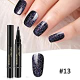 Riotis Gel Nail Pen Glitter One Step Gel Vernis à Ongles Longue Durée Vernis à Ongles Accessoires de décoration pour nail art