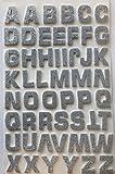 Glitterati Kleine Beads 52Schaumstoff 3D Effekt, selbstklebend, groß silber glitzernden Alphabet/Buchstabe Aufkleber