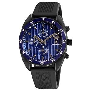 Emporio Armani - AR5930 - Montre Homme - Quartz Chronographe - Chronomètre - Bracelet Caoutchouc Noir