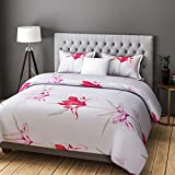 #10: RAGO FASHION ABSTRACT FLORAL PRINT WHITE AND RED BEDSHEET SET