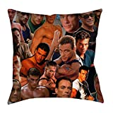 zxnucbvve Je WLUWX an Claude Van Damme Photo Collage Pillowcase Housses de Coussin Taies d'oreillers décoratives MWVAB 45cm x 45cm(18