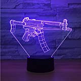Veilleuse Optical Illusion Lamp Nouvelle Pistolet Mitraillette 3D Lampe 7 Couleur Led Veilleuses Pour Enfants Toucher Led Usb Table Lampara Lampe Bébé Sleeping Nightlight Drop Ship