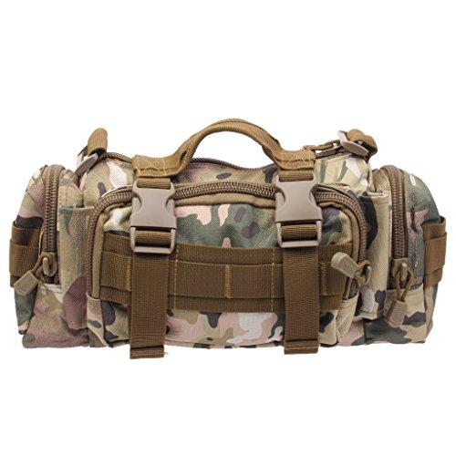 Generic Dienstprogramm Militärischen Taktischen Gürteltasche Rucksack Tasche Bag Beutel für Outdoor Camping Nylon , 32 x 15 x 10 cm Camo