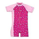 Sterntaler Kinder Mädchen Schwimmanzug, UV-Schutz 50+, Alter: 4-6 Jahre, Größe: 110/116, Pink/Rosa