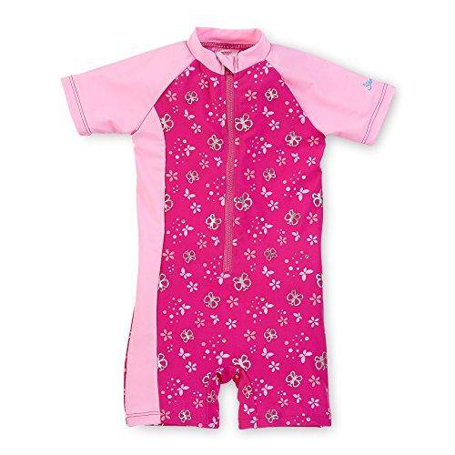Sterntaler Kinder Mädchen Schwimmanzug mit Windeleinsatz, UV-Schutz 50+, Alter: 6-12 Monate, Größe: 74/80, Pink/Rosa