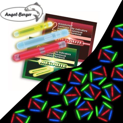 Angel-Berger 2 Knicklichter super hell in Verschiedenen Farben und Größen (Blau, 4,5mm)