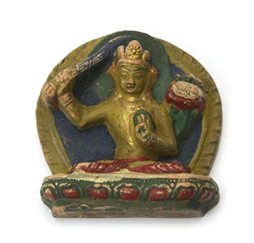 Manjushri-statue (Manjushri Bodhisattva-Statue aus Nepal, terracotta)