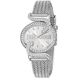 Just Cavalli Damen-Armbanduhr SIN Analog Quarz Edelstahl R7253591503