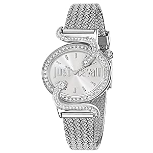 Just Cavalli Reloj analogico para Mujer de Cuarzo con Correa en Acero Inoxidable