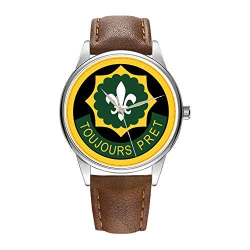 Herrenuhr braun Cortex Quarz Uhr für Männer berühmte Luxus Armbanduhr Quarzuhr für Business-Geschenk 2. Armored Cavalry Armbanduhr