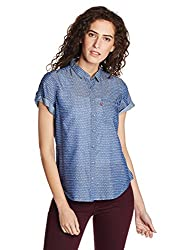 Levis Womens Body Blouse Shirt (23887-0010_Blue_XS)
