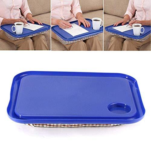 AMOYER beweglicher handliche Lap Top-Behälter-Halter Laptop-Tisch Faule Außen Learning Schreibtisch 42.5x33cm (blau) - Laptop Lap-halter