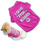 Susenstone Piccolo Cane domestico del gatto dei vestiti della maglia maglietta Nuovo cucciolo dell'animale domestico estate Camicia (S)