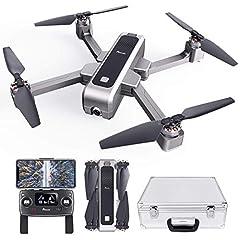 Idea Regalo - Potensic Drone Pieghevole Brushless GPS con Telecamera 2K Quadricottero D88 5G WiFi FPV RC Videocamera con Valigetta Ritorno a Casa, Posizionamento Flusso Ottico, Mantenere l'Altidutine ad Ultrasuoni