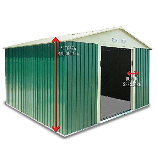 Box-Casetta-giardino-doppio-spessore-lamiera-261x301xh218cm-esterno-XL-PLUS