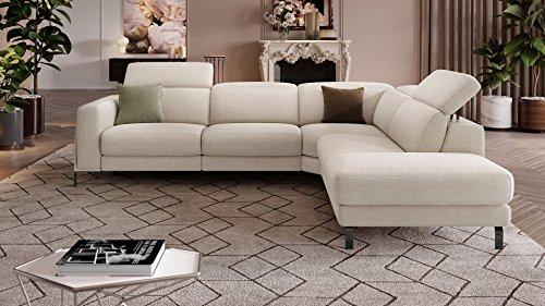 Design Sofa Eckcouch Garnitur Ecksofa Textil Stoff Wohnlandschaft Polsterecke