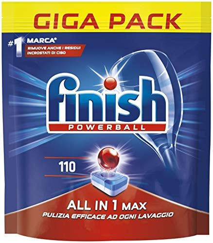 Finish All in 1 Max Pastiglie Lavastoviglie, Regular, 110 Capsule