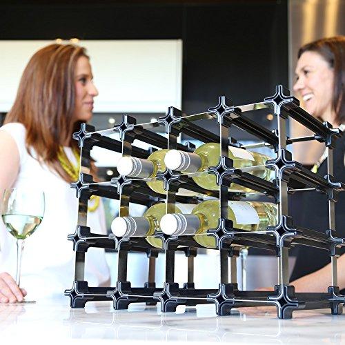 NOOK Weinregal 50er Large Kit - modulares Regalsystem für Weinflaschen - praktisches Flaschenregal...