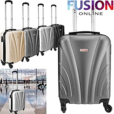 Hard Case Travel Cabin Bag Ryanair Easyjet 4 Wheels Spinner Trolley Luggage Suitcase Case - low-cost UK light store.