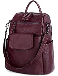 e8bde78865d8 UTO Women Backpack 3 Way PU Leather Ladies Girls Rucksack Shoulder Travel  School Bags