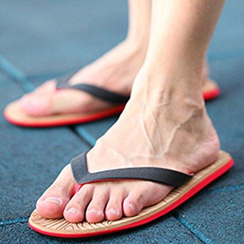 OVERMAL Hommes Été Flip Flops Chaussures Sandales Homme Pantoufles Flip-flops Noir