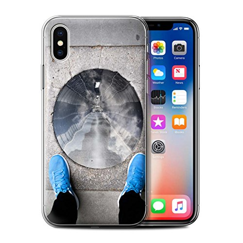 Stuff4 Gel TPU Hülle / Case für Apple iPhone X/10 / Londons Brenn Muster / Vorstellen Kollektion Tunnelblick
