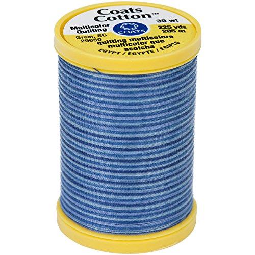 COATS Cotton Maschine Blau Wolken Quilting Gewinde, 225YD, Multicolor