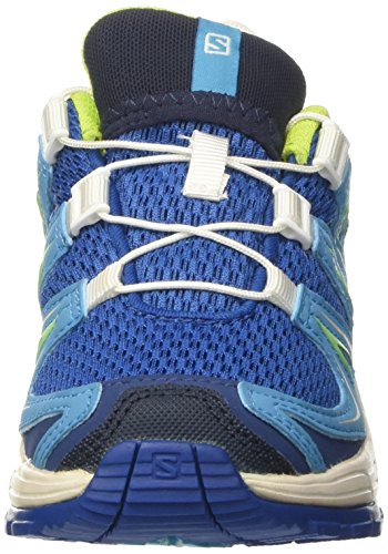Salomon Xa Pro 3d, Scarpe Outdoor Multisport Unisex – Bambini Blu (Deep Water/Scuba Blue/Tonic Green)
