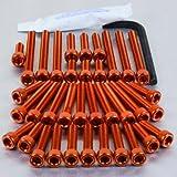 Aluminium Engine Kit Yamaha XV750 Virago Orange