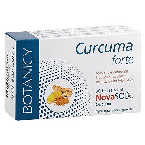 Curcuma Forte mit flüssigem Mizell-Curcumin ohne Piperin, das wohl beste Kurkuma der Welt, HOCHDOSIERT, resorbiertes Kurkurmin/Kapsel entspricht 148.000mg Kurkuma-Pulver, 30 Kapseln (Monatspack) -
