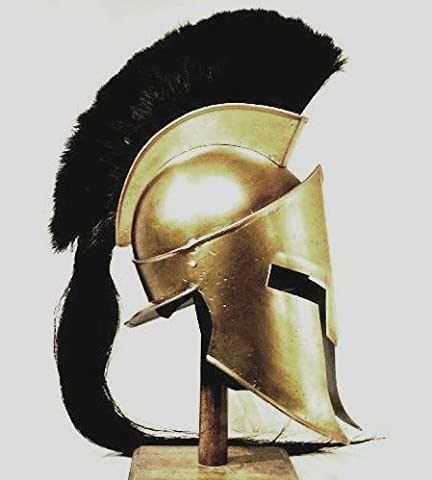 300 Costume - King Spartan 300 Movie Helmet (King Leonidas)+free