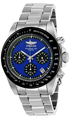 Invicta 23122 Speedway Unisex Wrist Watch Stainless Steel Quartz Blue Dial
