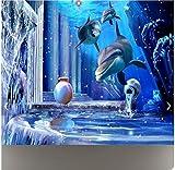 Rureng Custom Photo Wallpaper Large Mural 3D Stereo Underwater World Background Wall Mural Wallpaper for Walls 3D-280X200Cm