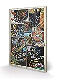 Pyramid International Star Wars Retro Comic - Lámina Decorativa (40 x 59 cm, Madera, 40 x 59 x 1,3 cm)