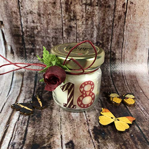 Personalisierte Soja-kerzen (10 Mini-Kerzen enden als Partygeschenke oder personalisierte Geburtstags-Platzkarten (Erwachsene) in Soja-Wachs und ätherischen Ölen)