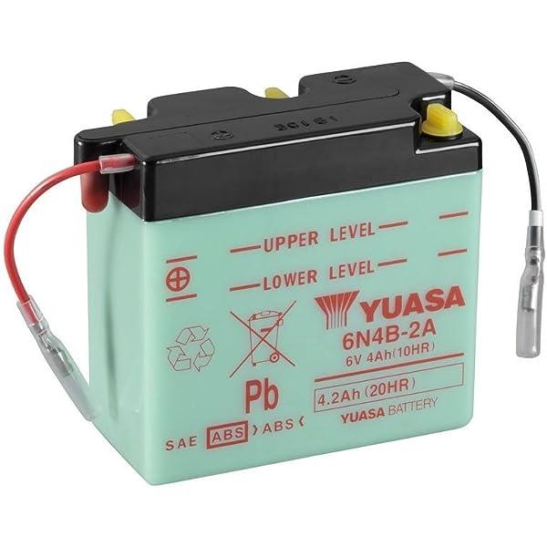 Batterie Yuasa 6n4b 2a Dc Offen Ohne Säure 6v 4ah 102x48x96mm Für Yamaha Ty250 Baujahr 1989 Auto