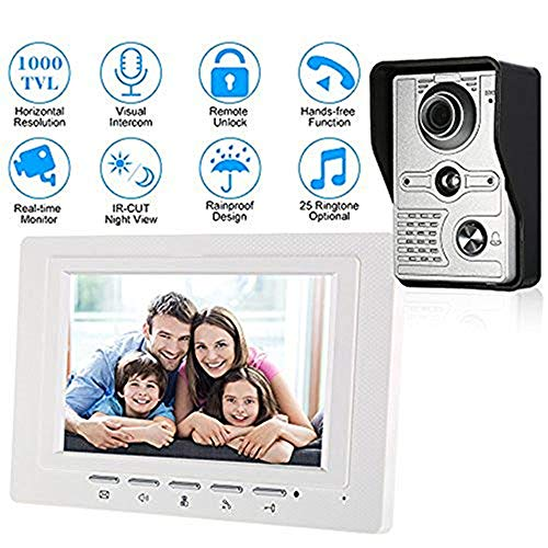 Video Türklingel Wired Video Intercom Video Doorbell Mit Ir-cut Outdoor Kamera 1000tvl Visual Intercom Remote Unlock Video Door Phone Remote Door Unlock