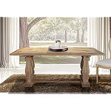 mesa rustica de comedor en madera de mango