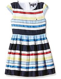 Tommy Hilfiger Isle Stripe Mini  Dress S/S-vestido Bebé-Niños    Multicolor multicolor (Classic blanco) 86 cm