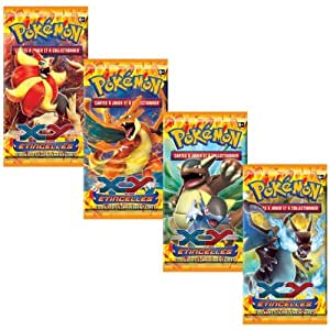 Lot de 4 Booster Pokemon XY 2 ETINCELLES (Flashfire) Français