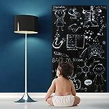 Stricker Tableau Noir Adhésif Tableau Noir Craie Autocollant Vinyl Blackboard Mural Cuisine l' Ecole Bureau 43cm×200cm par Fancy-fix