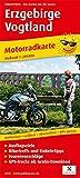 Erzgebirge - Vogtland: Motorradkarte mit Ausflugszielen, Einkehr- & Freizeittipps und...